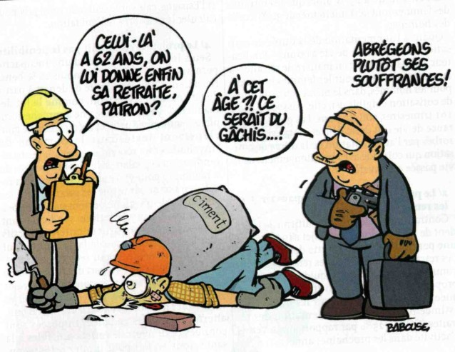 Dessins Humoristiques Retraites 2010 Cgt Duc 39 Action 45
